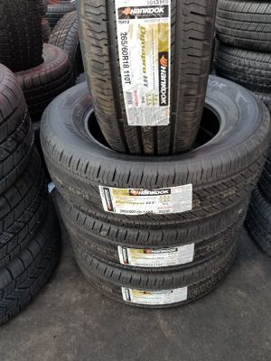 P265/60/18 SET OF FOUR NEW TIRES,HANKOOK DYNAPRO .$550. PRICE INCLUDE PROFESSIONAL INSTALLATION BALANCE AND TAXES.50.000 MILES GUARANTEE for Sale in Chino, CA