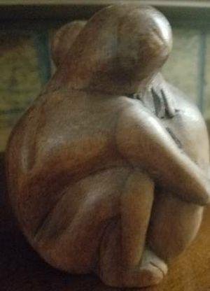Wooden Carved Hugging Couple for Sale in Westminster, CO