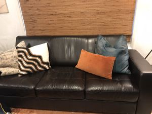 Modern style Black Leather Couch for Sale in San Diego, CA