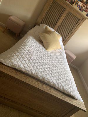 Restoration Hardware Twin bed w/ mattress for Sale in Dublin, CA