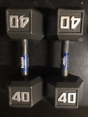 *NEW* 40lb Cast Iron Dumbbells for Sale in Folsom, CA