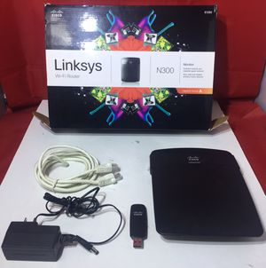 CISCO Linksys E1200 Wi-Fi Router N300 for Sale in Bloomfield, NJ