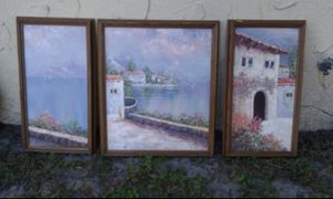 3 Canvas set - original oil paintings for Sale in Orlando, FL