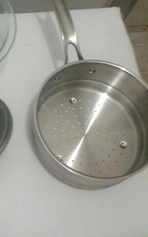 Stainless steel steamer insert pot for Sale in Hallandale Beach, FL