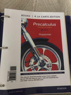 Precalculus Textbook for Sale in Santa Ana, CA