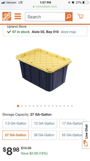 Storage containers $6 for Sale in Claremont, CA