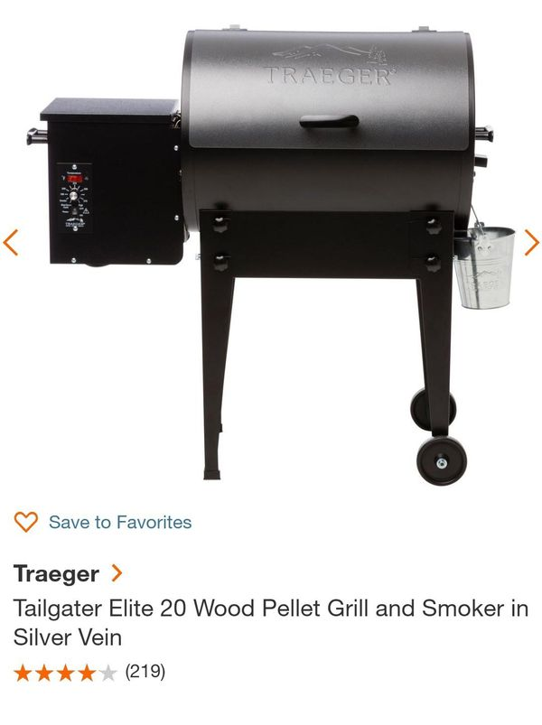 Traeger Tailgater Elite 20 Wood Pellet Grill and Smoker