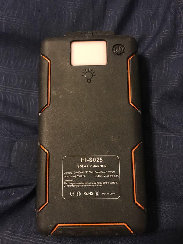 Hi-s025 solar charger