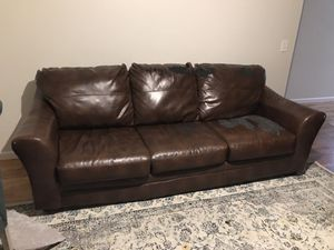 2 leather couch set FREE for Sale in Seattle, WA