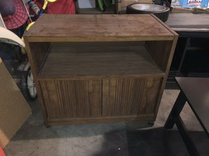 Wood shelving unit with storage and pull out Shelf for Sale in Kennewick, WA