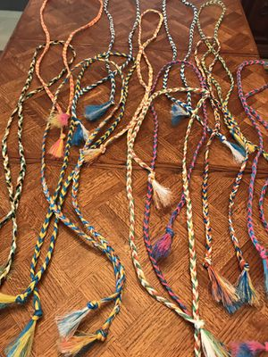ROPES - handmade - vivid colors! 6 feet long. for Sale in Orange, CA
