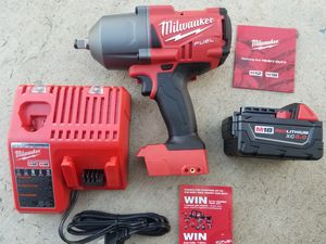 """M18 Milwaukee Fuel Brushless 1/2"""" High Torque 1400 Lb Max Torque with 5.0 XC Battery and Charger Brand NEW !!!! for Sale in Bakersfield, CA"""