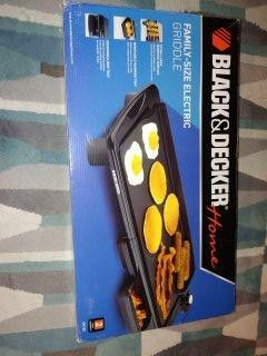 BLACK+DECKER Family-Sized Electric Griddle - Brand new for Sale in Rockville, MD