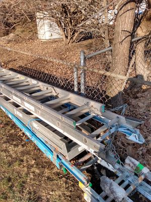 24 foot aluminum extension ladders 150 a piece for Sale in Independence, MO