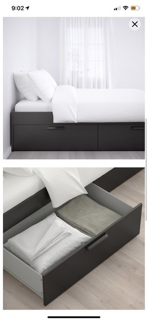 Bed frame with storage for Sale in Costa Mesa, CA