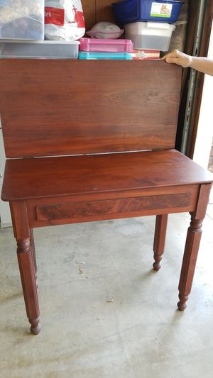 Antique Walnut Hinged Top Table for Sale in Placentia, CA