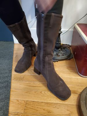 La Canadienne Made in Canada Suede Boot Womens With Heel for Sale in NEWTON U F, MA