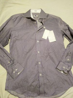 New With Tags Striped Bugatchi Uomo Dress Shirt SIZE M for Sale in Clearwater, FL
