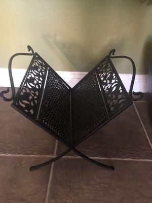 Wicker/iron magazine rack for Sale in Fresno, CA