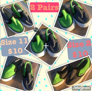 2 Pairs of Green/Black shoes for Sale in Amarillo, TX