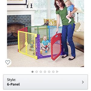 Superyard 6 panel Playgate - Playpen WITH AN ACTUAL DOOR - Toddler Gate for Sale in Alexandria, VA