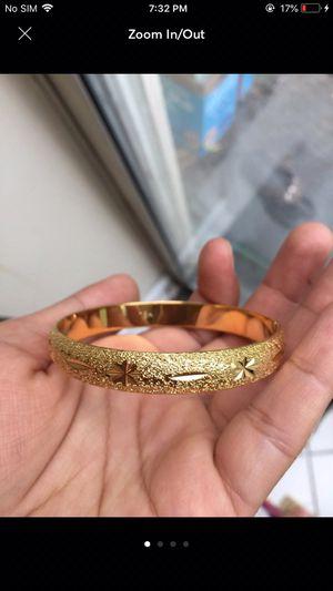18k gold plated stamped bracelet bangle for Sale in Silver Spring, MD