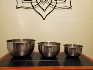 Stainless Mixing Bowl Set for Sale in Seattle, WA