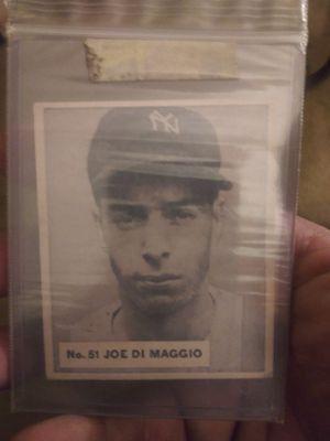 #51 JOE DI MAGGIO Big Chewing Gum Co. Baseball Card In Mint Condition for Sale in Long Beach, CA