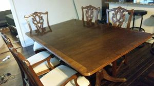 Antique Dining Table (comes with 2 extensions and 6 chairs) for Sale in Austin, TX