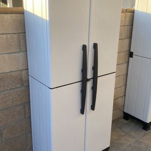 """Brand New Outdoor Storage Shed Resin Storage Cabinet Plastic All Weather Conditions 6ft X 27"""" X 16"""" Like Rubbermaid Keter Suncast for Sale in Yorba Linda, CA"""