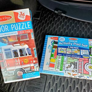 Melissa And Doug Activity Pad Sticker Book And Floor Puzzle for Sale in Lowell, OR