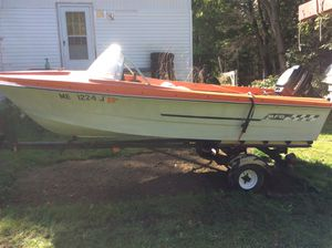 Boat,motor and trailer for Sale in Bangor, ME