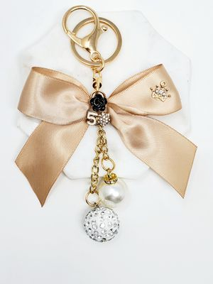 Satin bow and pearl charm keychain bagcharm for Sale in Baldwin Park, CA