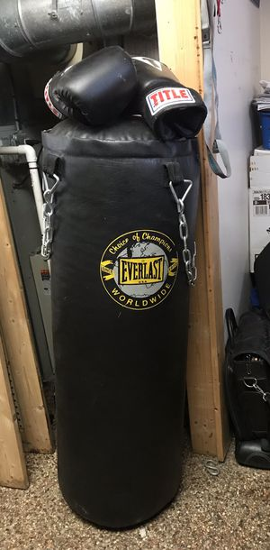 Punching bag with gloves for Sale in Cleveland, OH