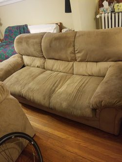Tan Couch For $100 for Sale in St. Louis,  MO