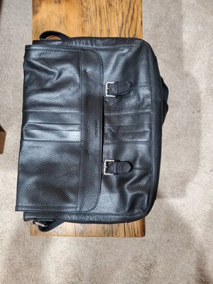 Cole Hann Black Leather Messenger Laptop bag for Sale in Renton, WA