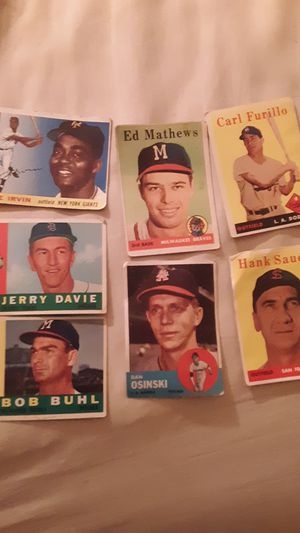 7 old baseball cards from the 1950's and 60's for Sale in St. Louis, MO