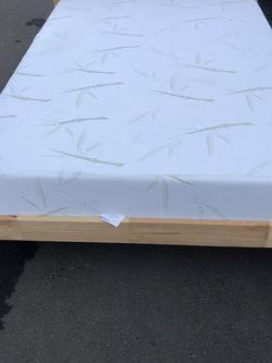 Great full size bed with comfortable mattress and IKEA frame for Sale in Boring,  OR