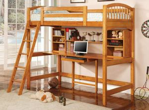 Kids twin loft bed with desk for Sale in San Antonio, TX