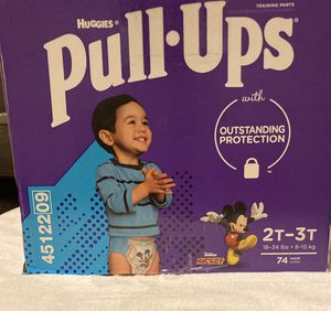 Huggies Pull Ups Learning Designs Boys' Training Pants - 2T-3T 74 count for Sale in Phoenix, AZ