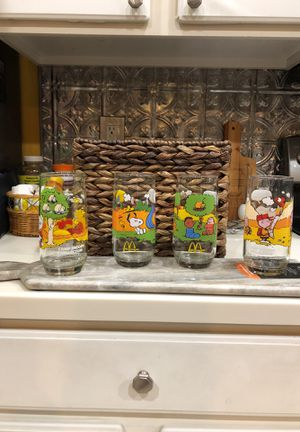Camp Snoopy McDonalds glass collection for Sale in Seffner, FL