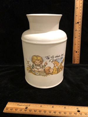 """McCoy pottery vintage canister """"the sky above and a book to love"""" boy and girl for Sale in Puyallup, WA"""