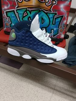 Retro 13 Jordans Blue Grey And White....official . for Sale in Philadelphia,  PA