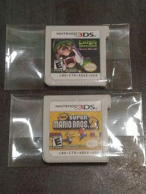 3DS SUPER MARIO BROS 2 & LUIGI HAUNTED MANSION for Sale in Calexico, CA