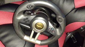 Gaming steering wheel works on pc,xbox,ps4 works on all games including pedals for Sale in Lowell, MA