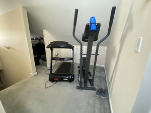 Treadmill & elliptical machine in good condition, 100% working! No shipping for Sale in Stamford, CT