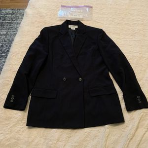 b2414 Jones New York 12 blue black blazer for Sale in Victoria, TX