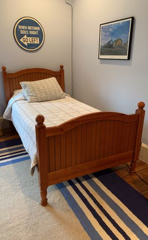 Two Pottery Barn twin beds with mattresses and linens for Sale in Houston, TX