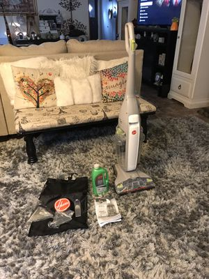 Hoover Vacuum/Carpet cleaner with accessories WORKS great🙂PICK UP ONLY-RUG IS NOT FOR SALE! for Sale in Raleigh, NC