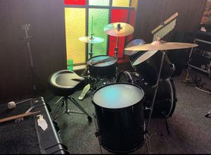 Drum Set and Drum Throne - Tractor Seat for Sale in Aloha, OR